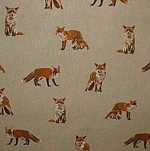 Thimbles Fabrics Fox Designer Natural Linen Fabric