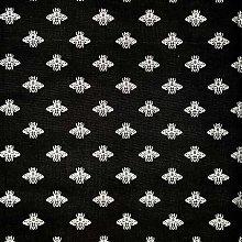 Thimbles Fabrics Gilded Silver Bumble Bees 100%