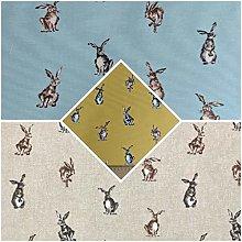 Thimbles Fabrics | Shabby Animals Hares Design Pop