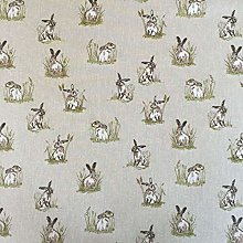 Thimbles Fabrics Vintage Animals Hares Cotton Rich