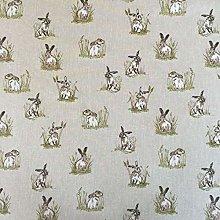 Thimbles Fabrics Vintage Animals Hares Cotton Rich