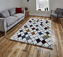 Think Rugs Broadway 1408 Hand Tufted Shaggy Rug
