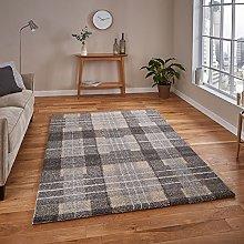 Think Rugs Elegant 4890 Rug, Grey, 120 x 170 Cm