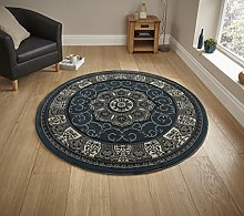 Think Rugs Heritage 4400 Blue Circle - 150 x 150