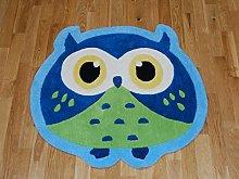 Think Rugs Hong Kong Owl Hand Made Childrens Rug