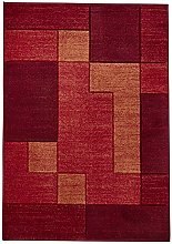 Think Rugs Matrix A0221 Hand Carved Rug, Red, 120