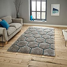 Think Rugs Noble House NH30782 Shaggy Hand Tufted