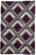 Think Rugs Noble House NH8199 Shaggy Hand Tufted