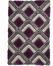 Think Rugs Noble House Shaggy Hand Tufted Rug,