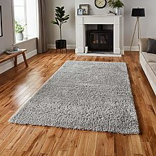 Think Rugs Repreve Recycled Shaggy Rug Rug, Grey,