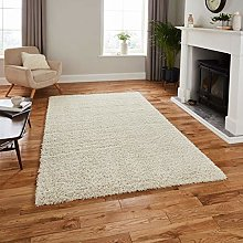 Think Rugs Repreve Recycled Shaggy Rug Rug, Ivory,