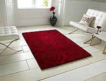 Think Rugs Valentine VL-10 100% Wool Indian Hand