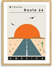 This Charming Print - 'Route 66' Wood