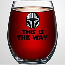 This is The Way Star Wars Crystal Stemless Wine