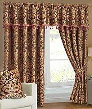 THL Chenille Blackout Heavy Jacquard Curtain Pair