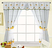 THL Embroidery Net Rot Pocket Curtain Stitched