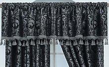THL Heavy Jacquard Style Fully Lined Grey, Pelmet