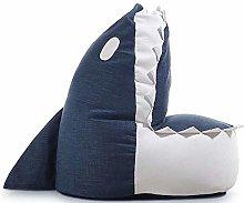 THMY Kid Sofa Chair, Cute Shark Linen cotton Bean