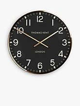 Thomas Kent Clocksmith Wall Clock, 53cm, Brass