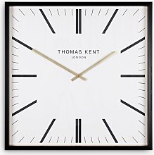 Thomas Kent Garrick Square Analogue Wall Clock,