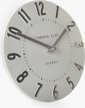 Thomas Kent Mulberry Mantel Clock, 15cm, Silver