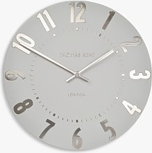 Thomas Kent Mulberry Wall Clock, Dia.30cm, Silver
