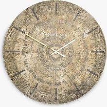 Thomas Kent Starburst Analogue Wall Clock, Gold