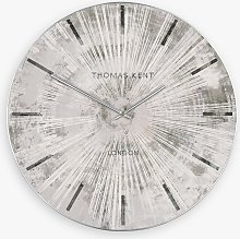 Thomas Kent Starburst Analogue Wall Clock, Silver