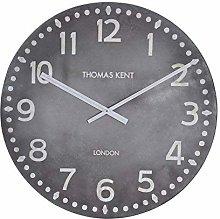 Thomas Kent Wall Clock, Wood, Gray, 30
