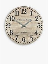 Thomas Kent Wharf Analogue Wall Clock, Soaped Oak