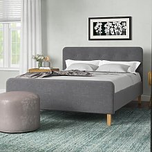 Thoms Upholstered Bed Frame Wrought Studio Colour: