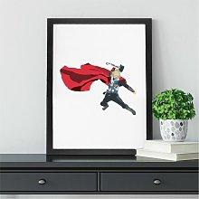 Thor Wall Art Print | Gift for Marvel Comic & Film