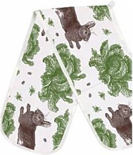 Thornback & Peel - Double Oven Glove Rabbit Cabbage