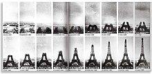 Thousand Face Eiffel Tower Under Construction