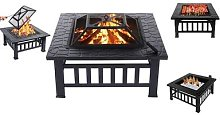 Three-in-One Fire Pit Barbecue Grill and Ice Bucket