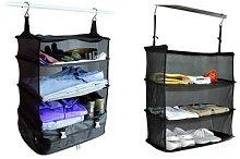 Three-Layer Hanging Travel Suitcase Organiser: