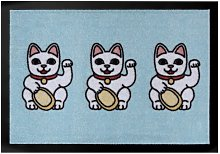 Three Lucky Cats Doormat Hanse Home