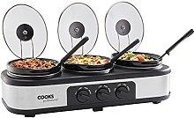 Three Pot Slow Cooker Food Warmer Buffet Server