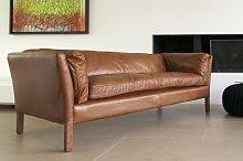 Three seater vintage leather sofa Hamar