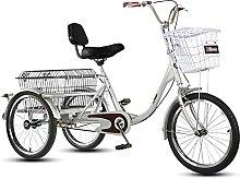 Three Wheel Cruiser Bike With Large Basket And