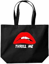 Thrill Me Funny Tote Shopping Gym Beach Bag 39 x