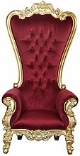 Throne Chair - Lazarus Gold frame and Red Velvet