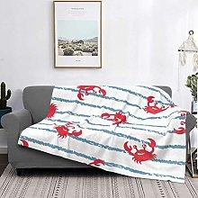 Throw Blanket Lightweight Ultra-Soft,Blue Striped