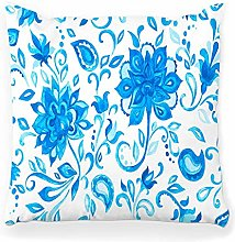 Throw Pillow Cover 18x18 Paisley Watercolor Floral