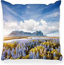 Throw Pillow Cover 18x18 View Lupine Sunny