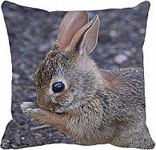 Throw Pillow Cover Brown Animal New England