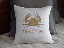 Throw Pillow Cover Custom Personalized Name Rustic