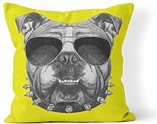 Throw Pillow Cover Dog Original Drawing of English
