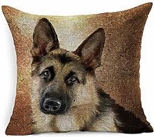 Throw Pillow Cover Square Art Dog German Shepherd