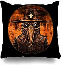 Throw Pillow Cover Square Death Bubonic Plague